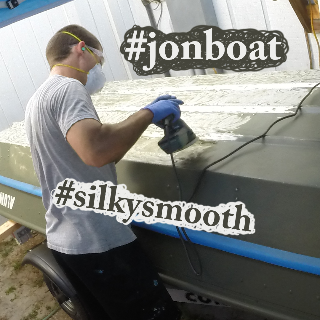 Prepping jon boat for bottom paint