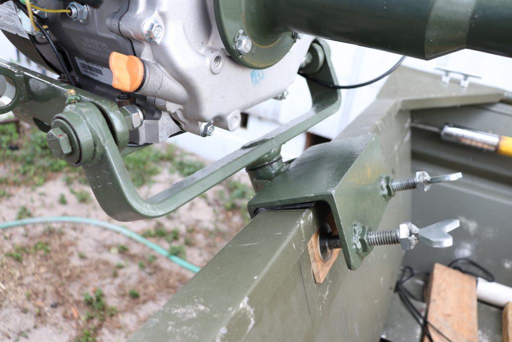 Swamp Runner Mud Motors (SPS) Thai Long-tail Mud Motor Kit Engine Base and Transom Mount