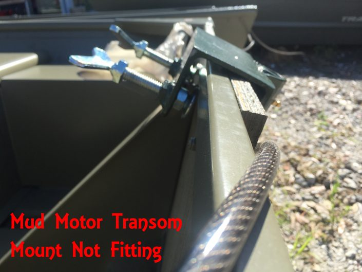 SPS Mud Motor Transom Bracket Tacker Jon Boat