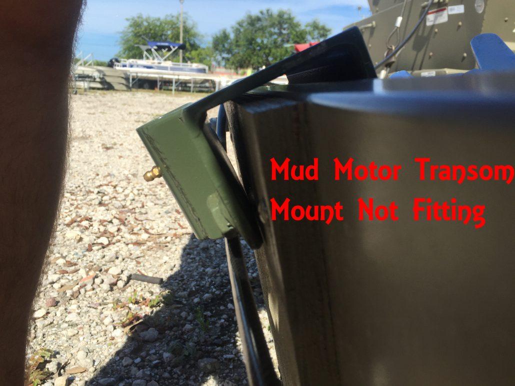 SPS Mud Motor Transom Bracket Tacker Jon Boat