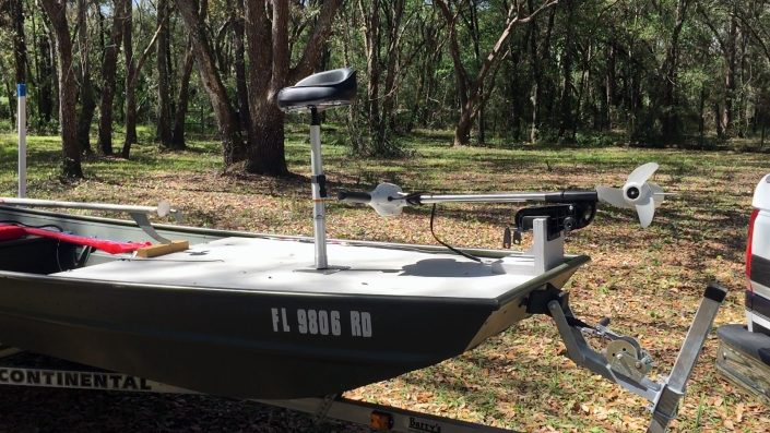 Job boat to bass boat sps mud motor deck