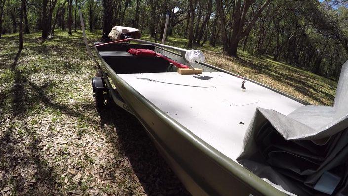 Job boat to bass boat sps mud motor deck