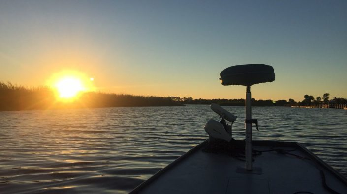 Florida Sunrise on jon boat